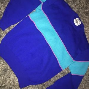 Vintage Summit Canyon colorblock pull over sweater